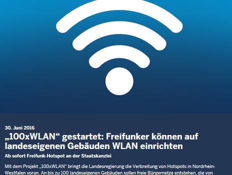 Projekt NRW 100, Freifunk Troisdorf ist dabei
