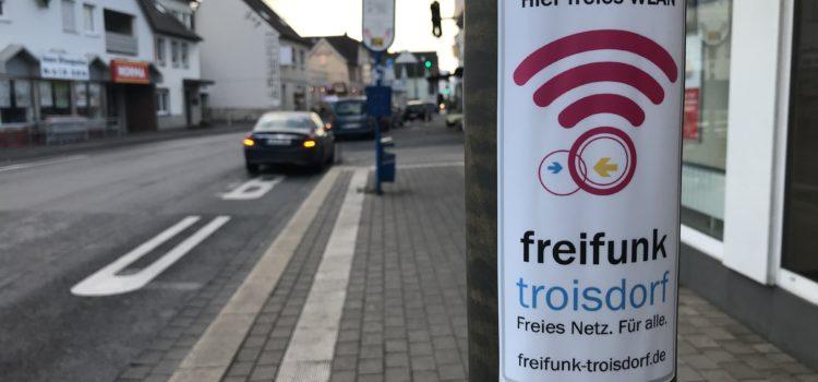 Freifunk-WLAN an der Bushaltestelle Kreissparkasse in Spich