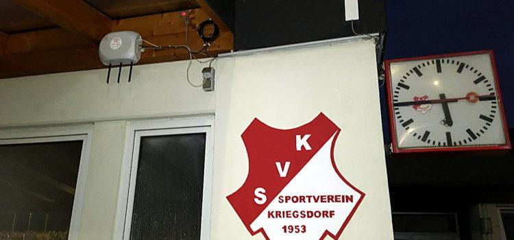Sportplatz des SV Kriegsdorf ans Troisdorfer Freifunknetz angeschlossen